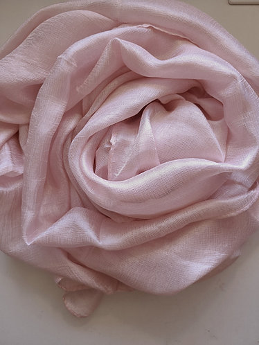 Soft pink Textured Silk Hijab