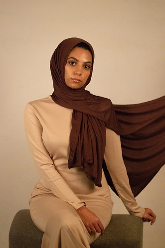 Brown Silky jersey Hijab