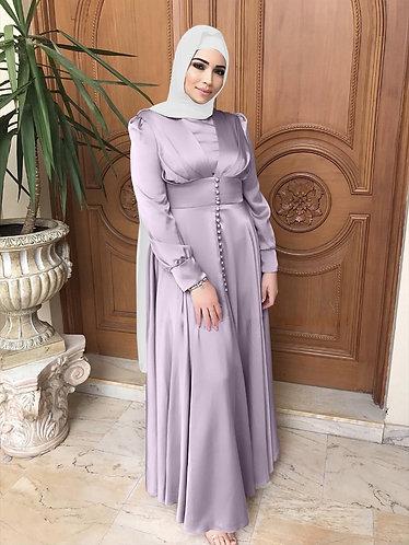 Lavender Satin Dress