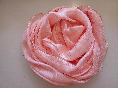 Peachy Pink Textured Silk Hijab