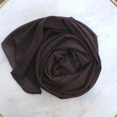 Brown Georgette hijab