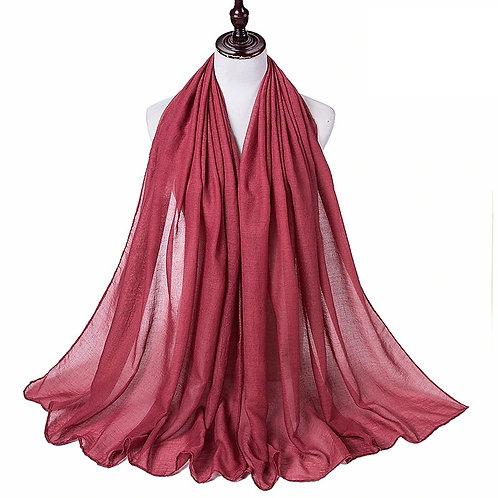 Cranberry Viscose Hijab