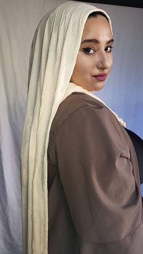 Creme  silky Jersey hijab