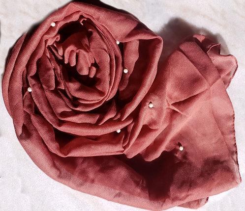 Cranberry Pearl Viscose Hijab