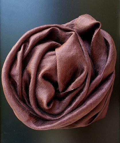 Brown textured silk Hijab