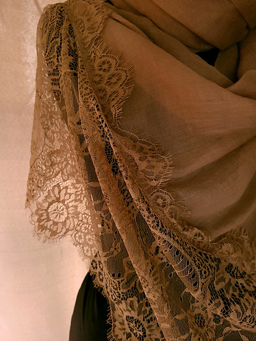 Carmel Lace Viscose Hijab