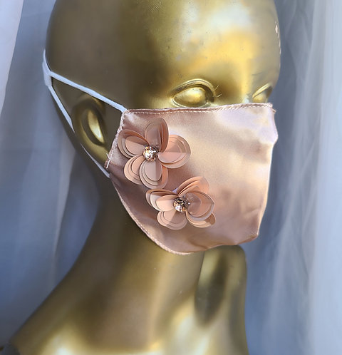 Occasion satin masks with pocket