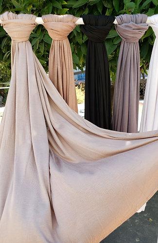 Tan Silky Jersey Hijab