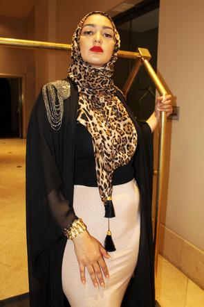 Leopard Tassel Hijab