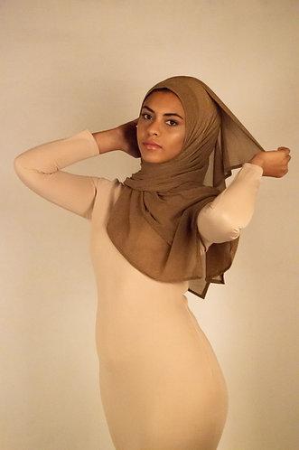 Mocha Chainmail Stretchy Hijab