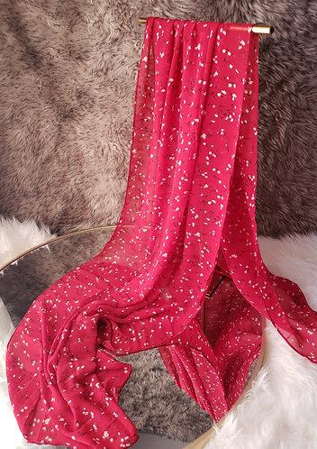 Ruby Meadow Chiffon hijab