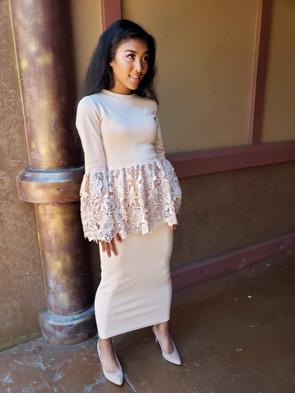 Peplum Top and Skirt