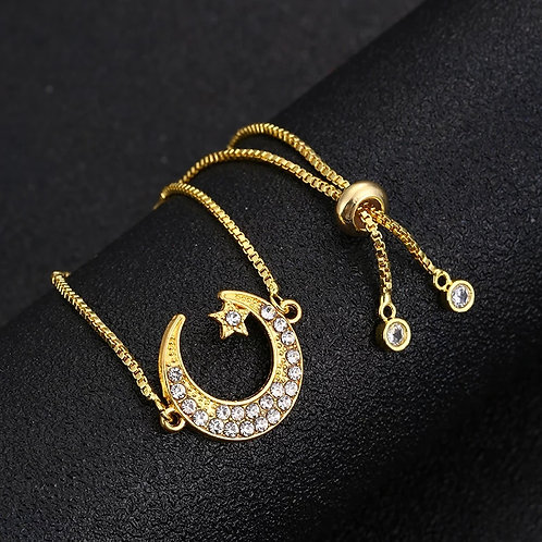 Small Moon & Star Bracelet