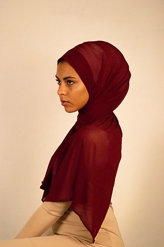 Cherry Chainmail Stretchy Hijab