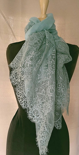 Mint Lace Viscose Hijab