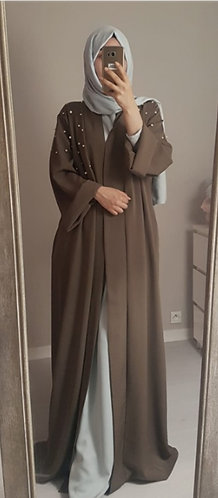 Wide Cuff Open Abaya