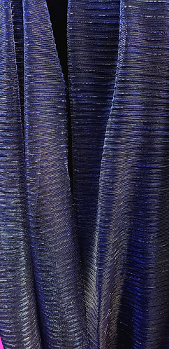 Blue & Gold Shimmer Pleated Hijab