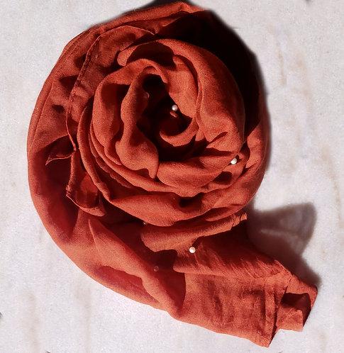 Rust Pearl Viscose Hijab