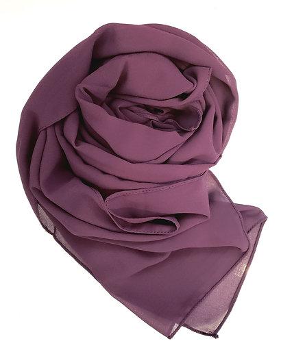 Royal purple Georgette Hijab