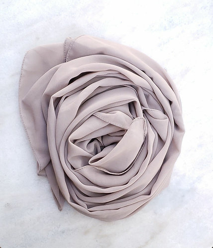 Light Taupe Georgette hijab