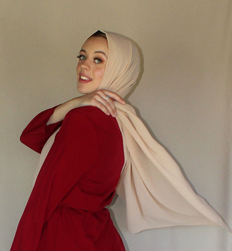Beige georgette Hijab