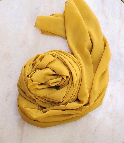 Sunflower Georgette hijab