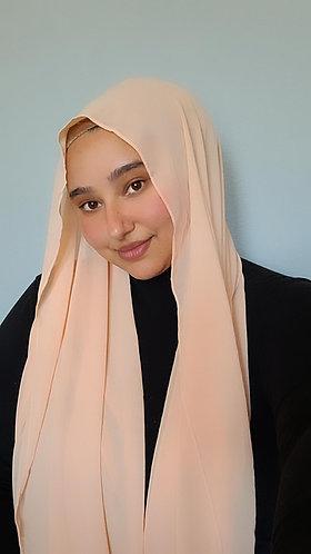 Peach Georgette hijab