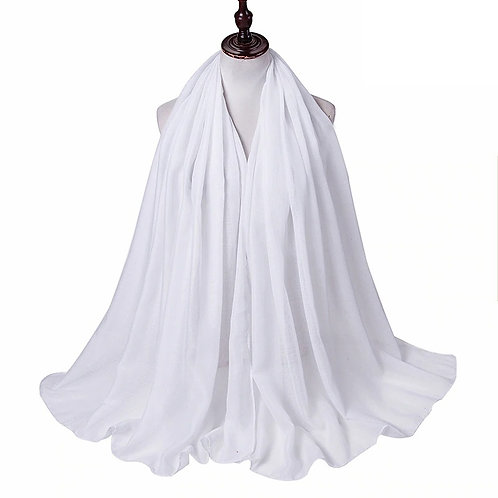white Viscose Hijab