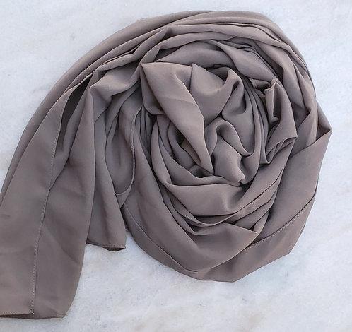 Dark Taupe Georgette hijab