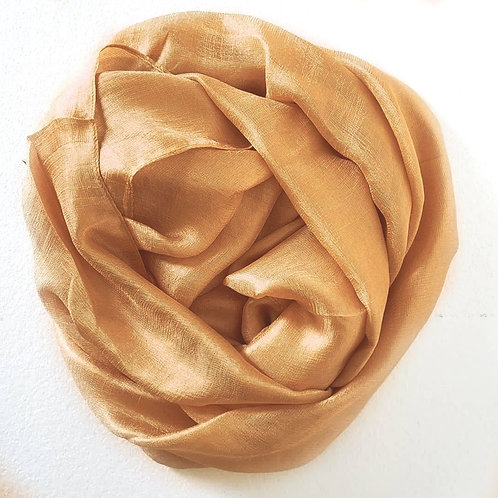 Golden hour Textured silk hijab