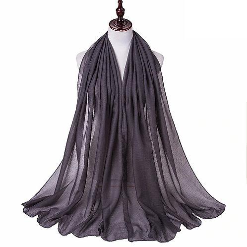 Dark Grey Viscose hijab