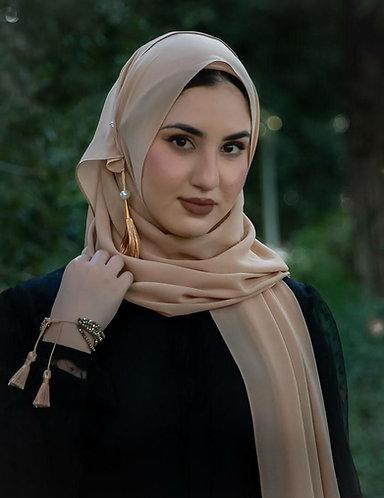 Sand Tassle Georgette Hijab