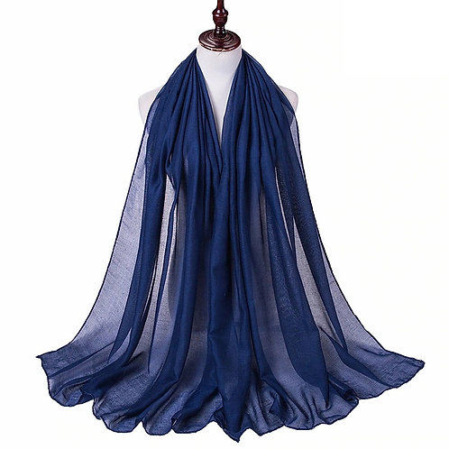 Navy Blue Viscose Hijab