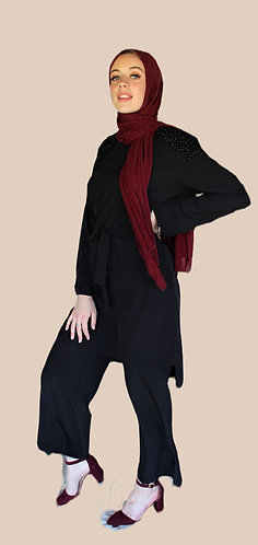Black Top and Pants Set