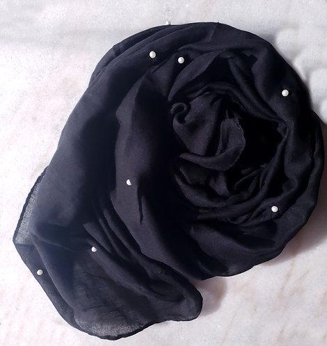 Black Pearl Viscose Hijab