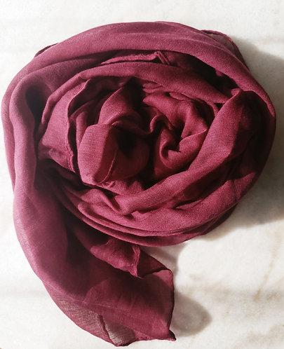 Burgundy Viscose Hijab