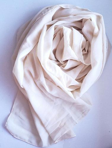 Ivory Georgette Hijab
