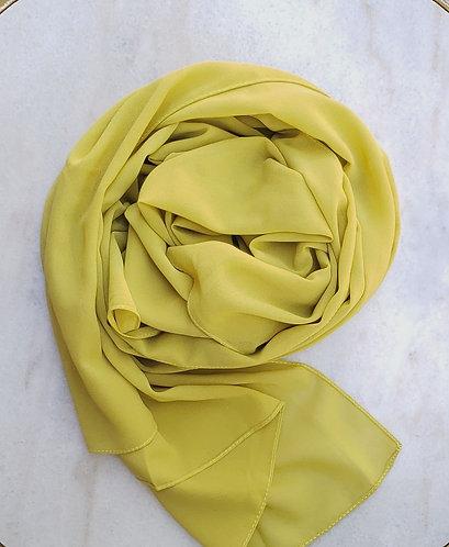 Acid Yellow Georgette hijab