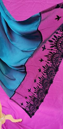 Silk cordón Lace Hijab
