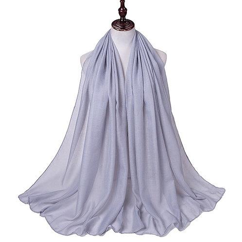 Light Gray Viscose Hijab