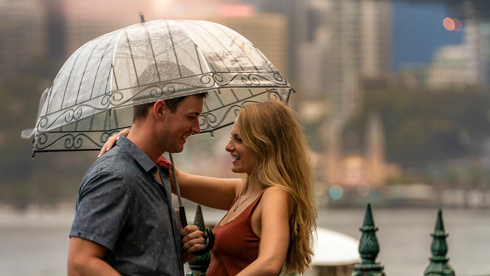 pre-wedding-photography-in-the-rain-sydney-harbour