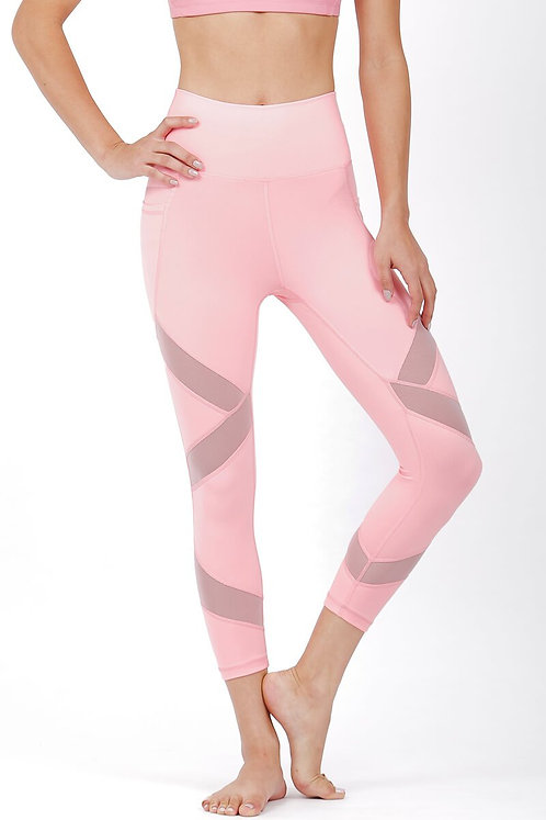 Glow Mesh High Rise Performance Crop