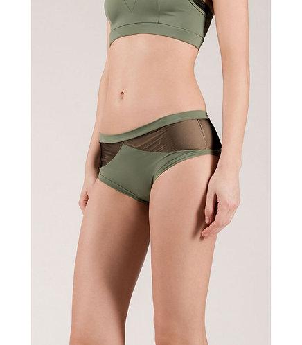 Diamanté Army Green Shorts