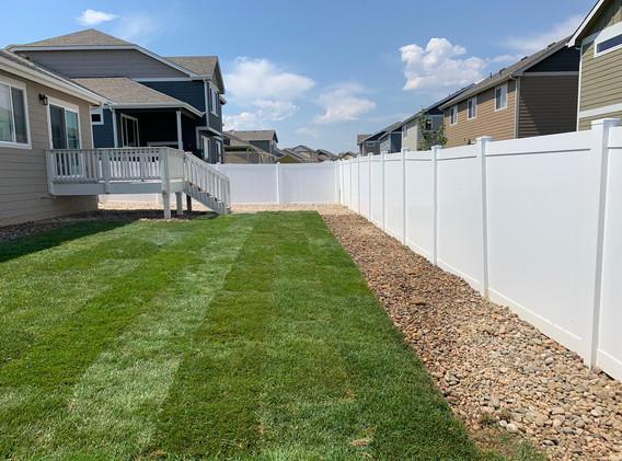 New build landscape installation