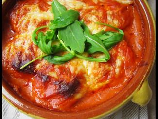 Œuf sauce béchamel à la tomate