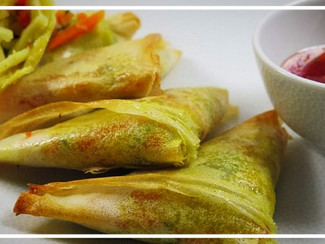 Triangles de légumes et tofu