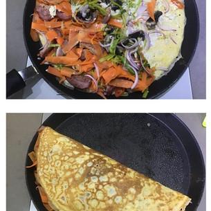Omelette façon chausson