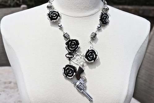 Guns 'n Roses 3 - vintage toy statement necklace