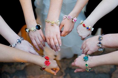Bridesmaid Gift Set - Vintage Earring Bracelets