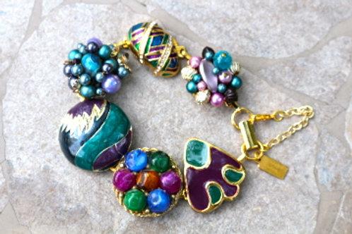 Twilight Time - Reclaimed Vintage Earring Bracelet